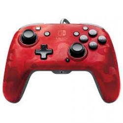 Comando com fios Faceoff Deluxe Vermelho Camuflado - Nintendo Switch